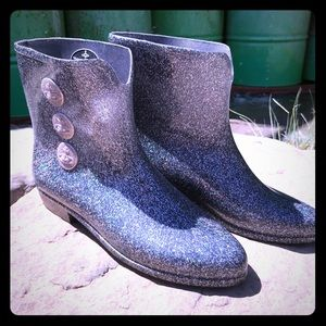 Holographic Speckled Vivienne Westwood Booties